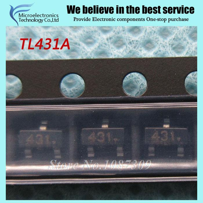 200pcs free shipping TL431A TL431 431 SOT23-3 Voltage References Adjustable Precision Shunt Regulator new original(China (Mainland))