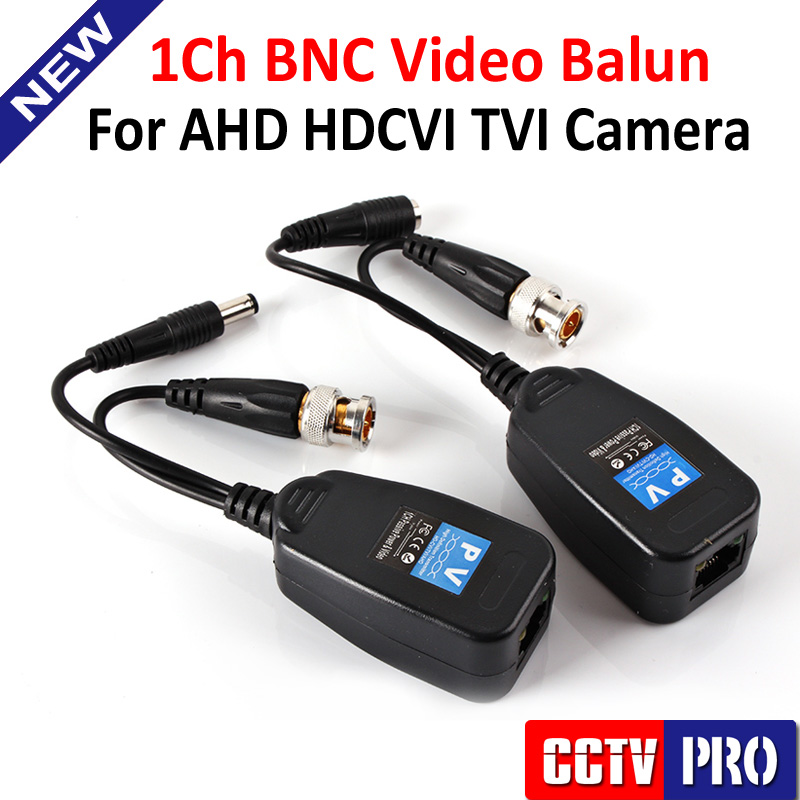 1CH Passive Balun RJ45 CCTV Balun Video Balun Transceiver Supply Power For HDCVI/HDTVI/AHD Analog High Definition Camera(China (Mainland))