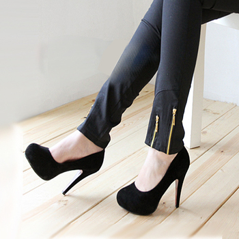 2013 spring and summer single shoes new arrival nubuck leather platform round toe platform women's ultra high heels shoes plus