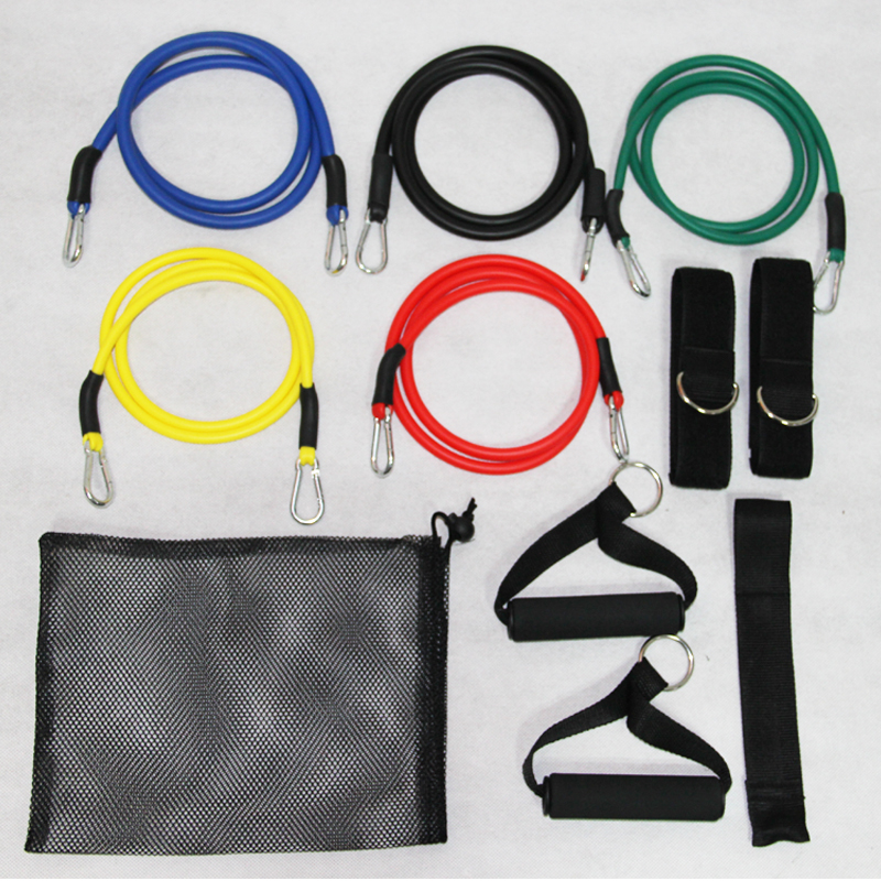 Factory Direct Sales Free Shipping 12Pcs/Lot 12 Peices a Pack Soft Expander Set Latex Resistance Bands Exercise Training Rope(China (Mainland))