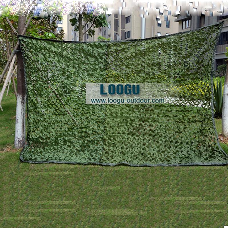 LOOGU LOS 1.5 M * 4 M Camo Compensação com malha de Puro Verde Selva Abrigo para Camping Militar Do Exército Do Camo Net Caça Rede de Camuflagem(China (Mainland))