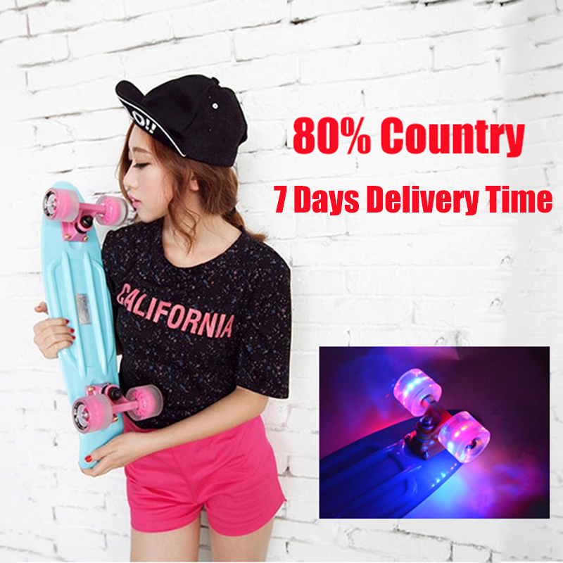 "2016 Pastel Colored Original Peny Board 22"" Pnny mini Cruiser Skateboard board tablas de skate board loaded skateboard complete(China (Mainland))"