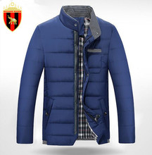 Buy RICHARD ROGER Men Fashion Cotton Coat Warm Winter Men's Causal Outwear Brand Large Size Thicker Middle Aged Simple Clothing for $49.98 in AliExpress store