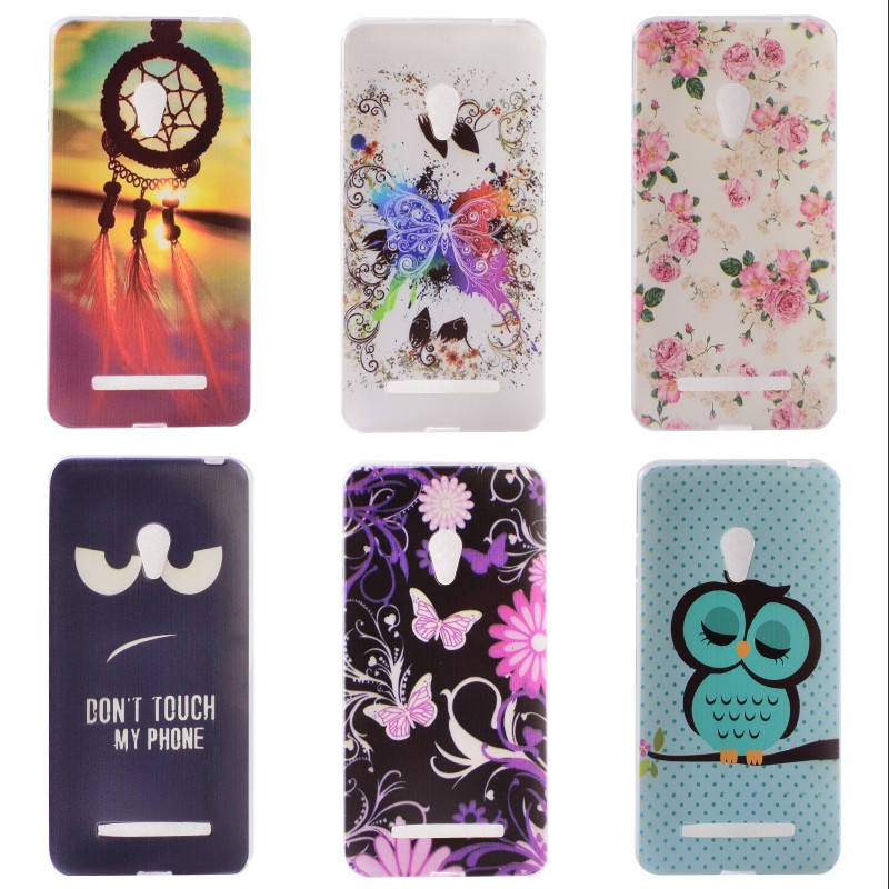 For Asus Zenfone 5 zenfone5 A501CG A500CG A500KL Flowers Soft TPU Case Silicon Phone Covers Shell skin Cover Design hot selling(China (Mainland))