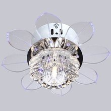 New Ceiling Fan Crystal LED Chandelier Corridor Stairs Crystal Ch