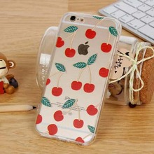 i6 For iphone 6 Case 4.7 Fruit Banana Cherry Fashion Soft Transparent Ultra Thin Cover For Apple iPhone6 6S Case For Phone Cases