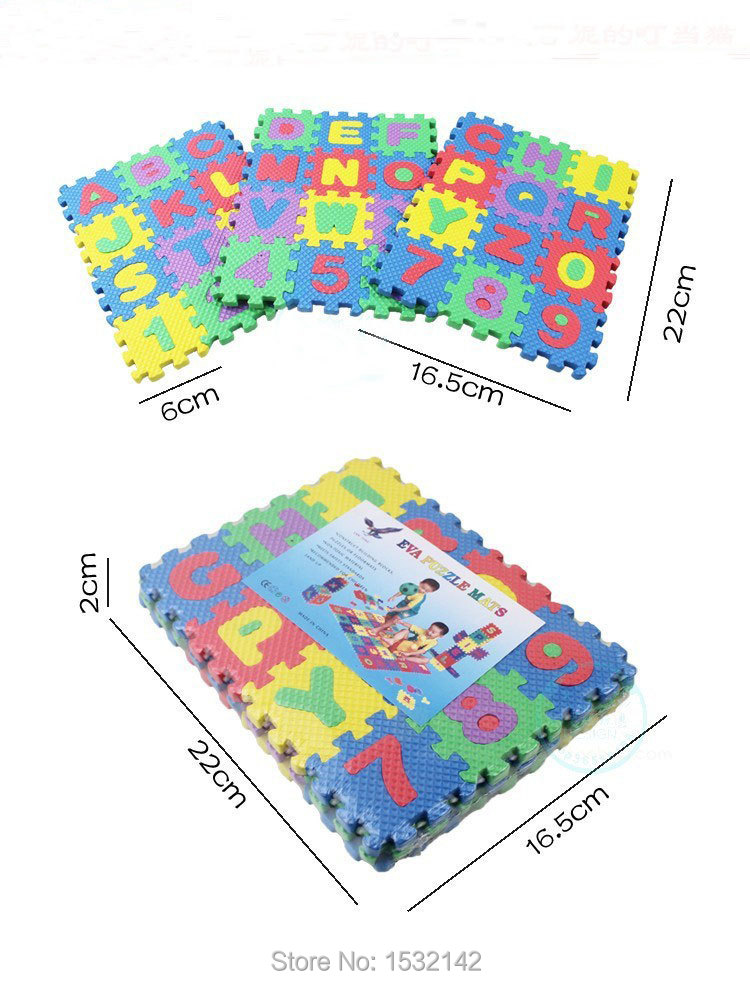 72pcs Fashion Education Kids Game Carpet Blankets Baby Alphabet & Numbers Soft Foam Play Puzzle Mats Jigsaw Puzzle For Children(China (Mainland))
