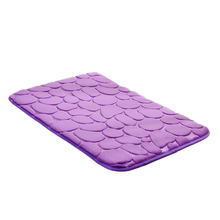 40*60cm Hot Classic Absorbent Non-slip Cobblestone Rug Bathroom Mat Doormat Carpet(China (Mainland))