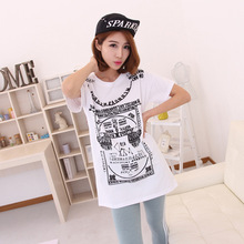 Buy 2017 New Fashion Female Large Letters Printed Loose Tops T Shirt Casual Cotton Short Sleeved Long T-shirt Women Clothes FW for $12.00 in AliExpress store
