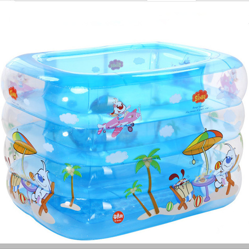 2016 Hot Sale 110*95*75cm kid inflatable pool baby swimming pool water sport playing pool summer 4 layers Eco-Friendly With Gift(China (Mainland))