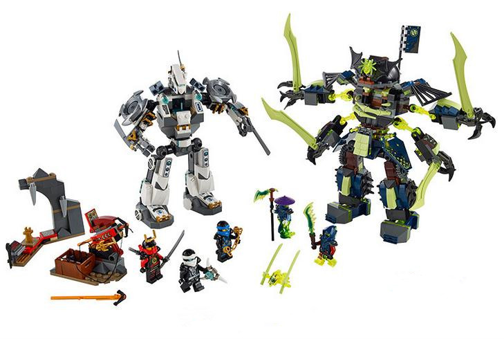 2016 Bela 10399 Ninja Mech Battle Building Blocks Set Minifigures Kids Brick Toys Compatible Lego Toy Birthday Gift