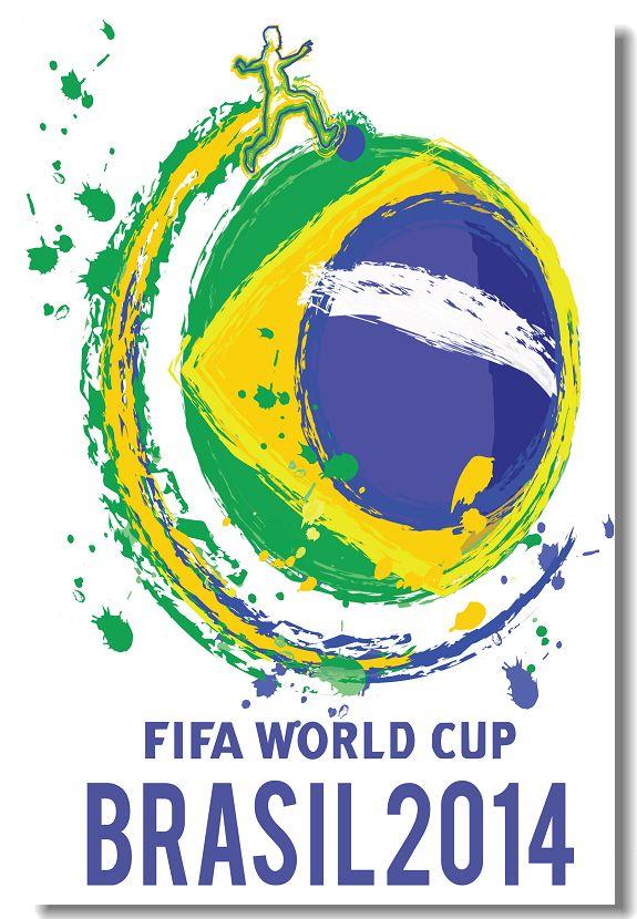 World Cup 2014 Brazil Silk Wall Poster 36x24,30x20,18x12 inch Design Print Soccer Football Star Team Bar House Room Custom (003)(China (Mainland))