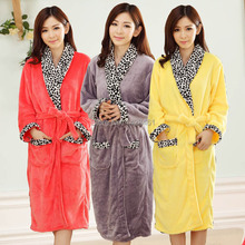 HOT!Robe Winter The New flannel Warm Casual Indoor Clothing kimono robes Cardigans casual dress Bathrobe Home clothes roupao(China (Mainland))