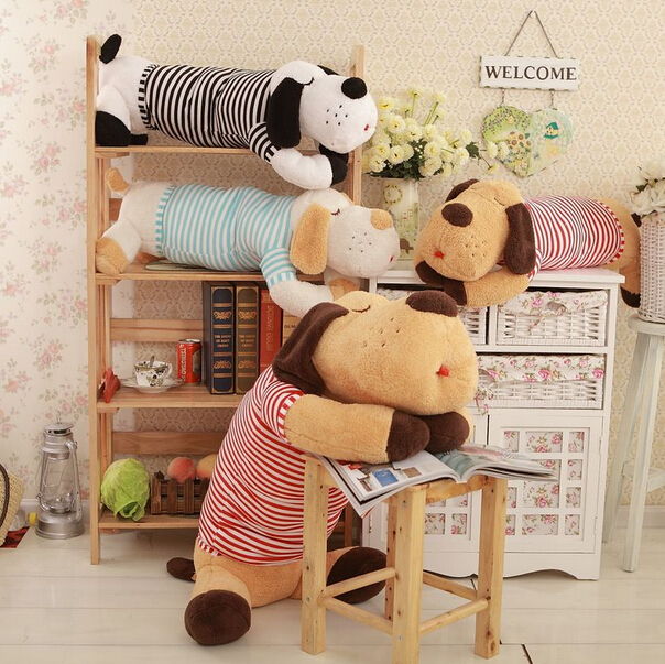 FREE SHIPPING 90CM New cute dog doll plush toys creative large pillow doll