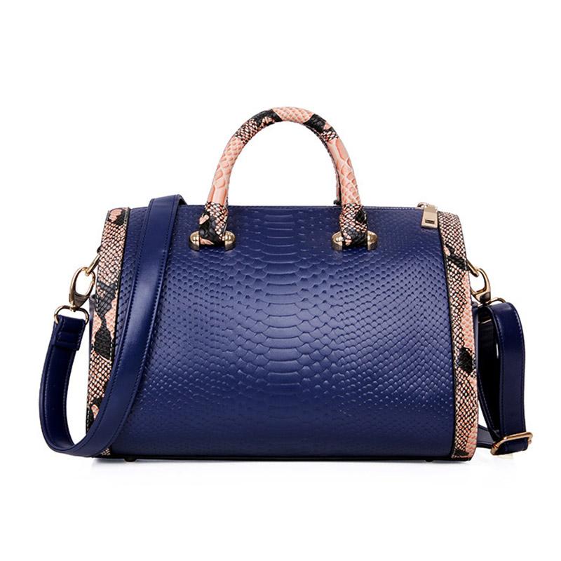 New Patchwork Square Handbag PU leather Shoulder Bag Large Women's Handbag Fashion Totes black white leopard L09613(China (Mainland))