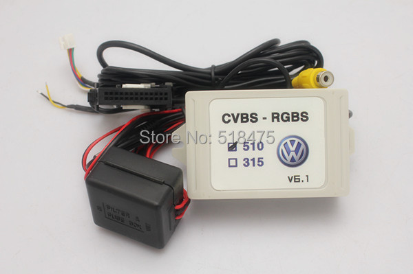2015 Upgrade Factory New Rear View Camera CVBS to RGB and AV to RGB Converter Adapters For VW Volkswagen RCD510 RNS 510 RNS 315 <br><br>Aliexpress
