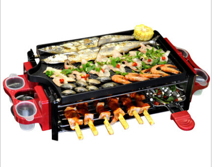 Household indoor electric grill pan electric oven smokeless electric barbecue skewer machine(China (Mainland))