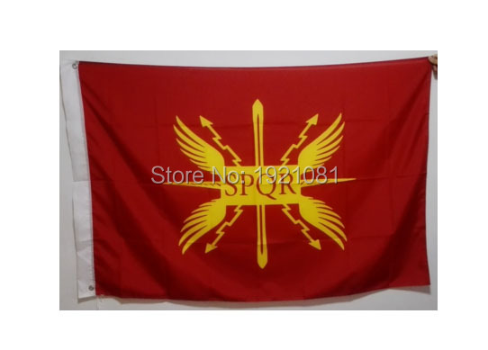 Imperial Flag Senatus Populusque Romanus Empire SPQR College football Soccer USA team Club Flag 3X5FT(China (Mainland))