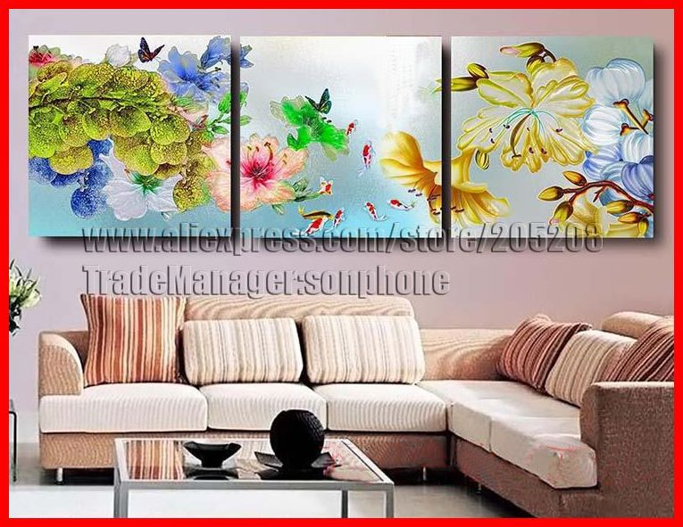 online kaufen gro handel oil painting koi fish aus china oil painting koi fish gro h ndler. Black Bedroom Furniture Sets. Home Design Ideas