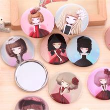 RANDOM girl mini pocket makeup mirror cosmetic compact mirrors espelho de maquiagem espejos de bolsillo