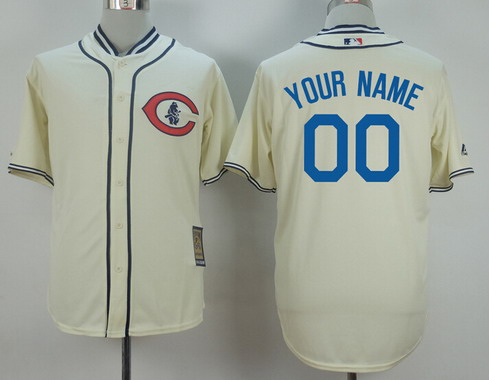 Stitched Custom Chicago Cubs Jerseys,Personalized Cubs throwback Baseball Vintage Jersey,1929 Turn Back The Clock cream Retro<br><br>Aliexpress