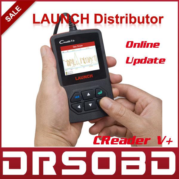 100% Original LAUNCH CReader V+ OBD2 Code Reader 100% Original Free internet update X431 CReader V Plus Support Multi-Language(China (Mainland))