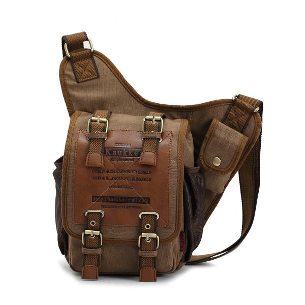 2015 Fashion Retro Vintage Canvas Bag Men Messenger Adjustable Shoulder Oblique Cross Body Package bags Travel Hiking 1pcs/lot(China (Mainland))