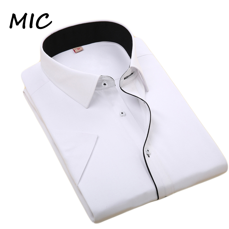 Free shipping 2016 summer new men's short sleeved dress shirt bussines casual formal silm fit shirts men large size high quality(China (Mainland))
