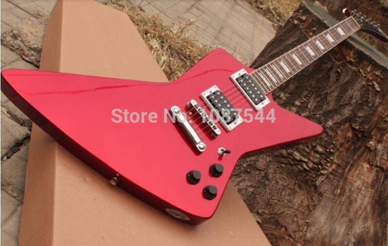 Ken Lawrence Custom Explorer Metallica James Hetfield Electric Guitar(China (Mainland))