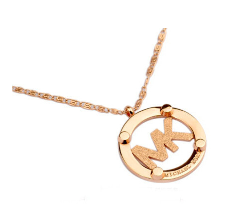 Hot sale!! 18k gold chain letter pendant necklace for women wholesale free shipping(China (Mainland))