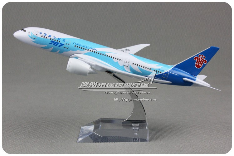 18cm Metal Airplane Model Blue Air China Southern Airlines B787 8 B-2725 Boeing 787 Airways Plane Model W Stand Aircraft Toy(China (Mainland))