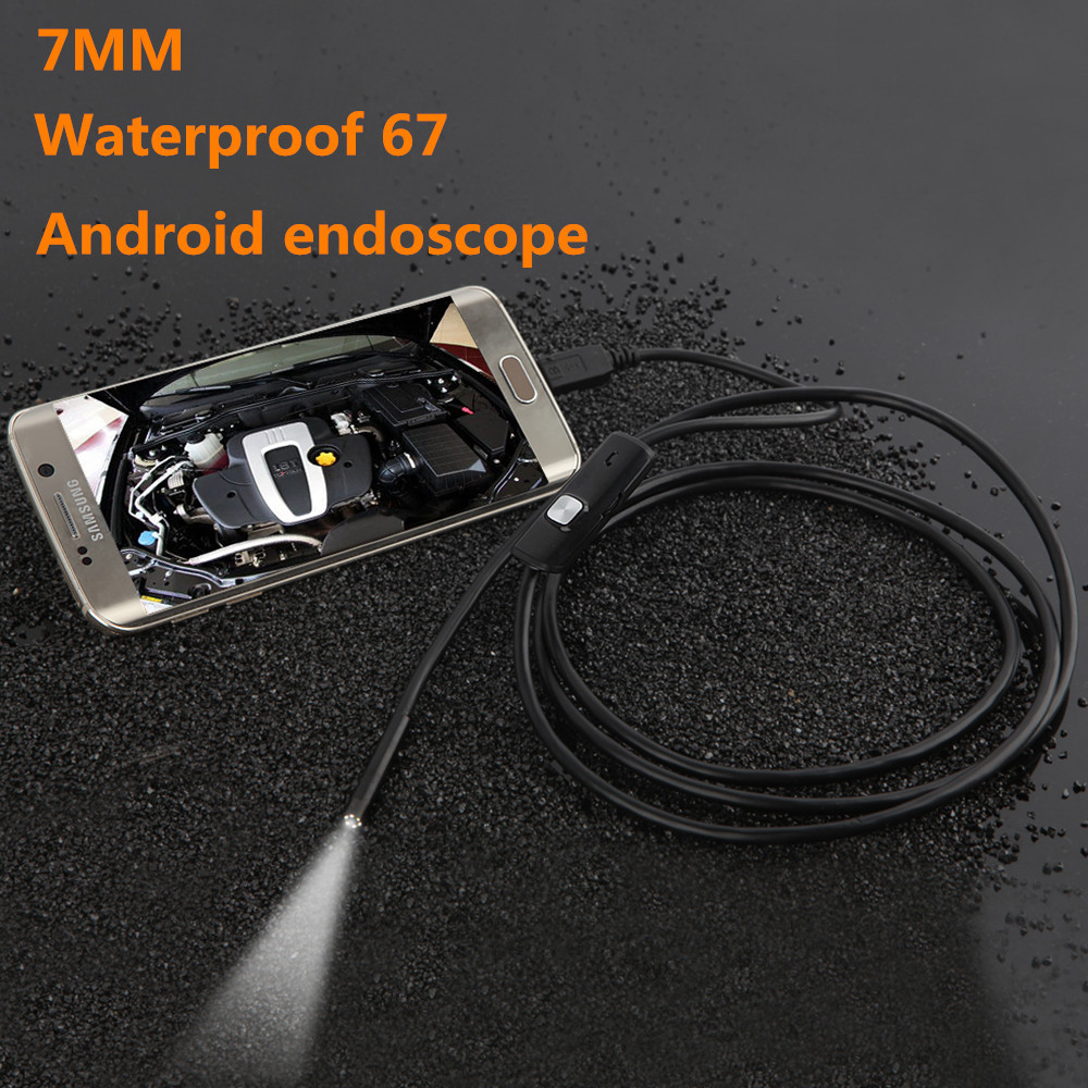 HD Waterproof Mini Micro Android Video USB Endoscope Borescope Inspection Industrial Camera 6 LED US 7MM Lens 3.5M Cable<br><br>Aliexpress