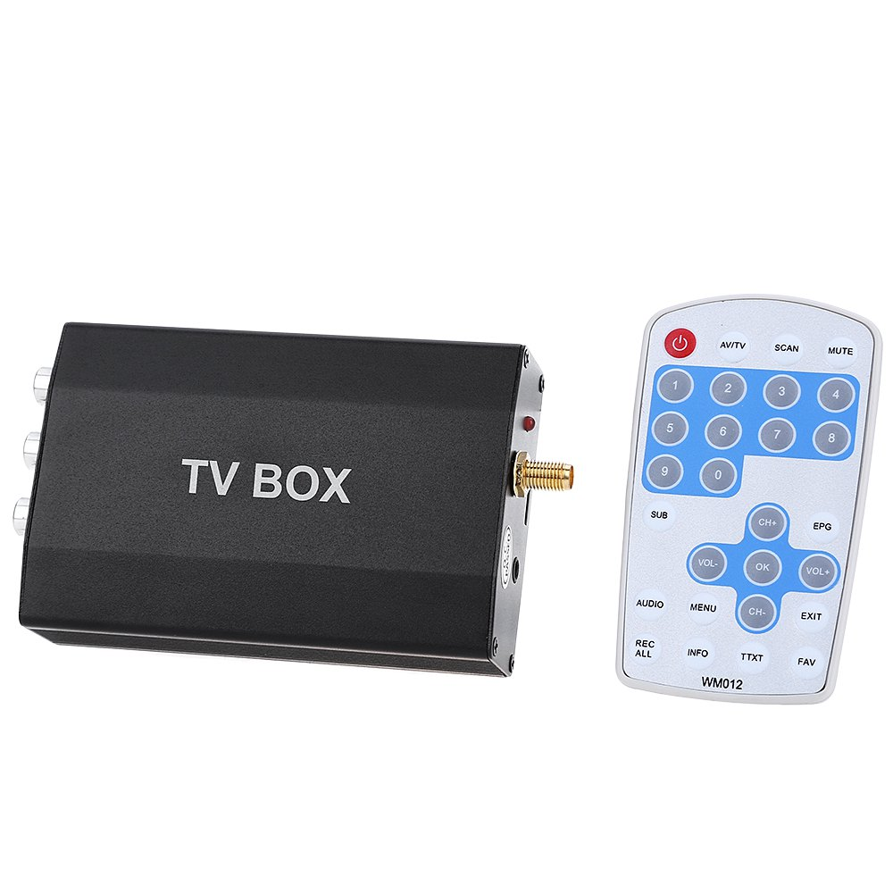 DVB - T Multi-channel Mobile Car Digital TV Box Mini Analog Tuner Signal Receiver TV Receiver for Car Subminiature Appearance(China (Mainland))