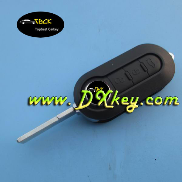 Good sale 3 button car flip key shell for fiat key cover(China (Mainland))
