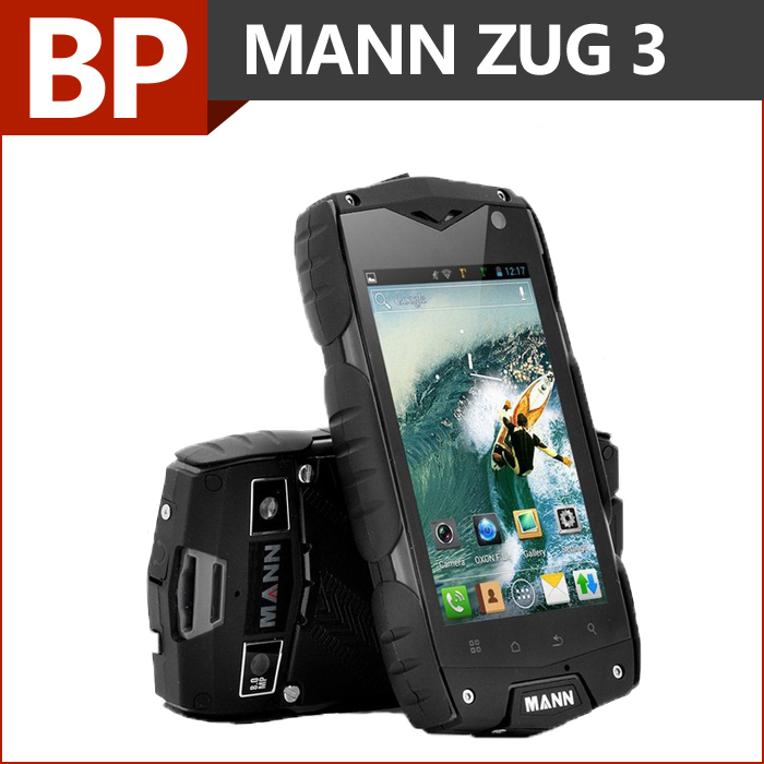 Original MANN ZUG 3 Waterproof IP68 Phone 4 Inch 800x480 pixel IPS MSM 8212 Quad Core Android 4.3 Mobile Cell Phone(China (Mainland))