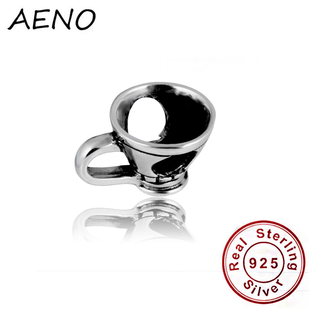 Hot Sale Fits Pandora Charms Bracelet Necklace 100% 925 Sterling Silver Wine Glass Cup Charm Pendant DIY Jewelry Making(China (Mainland))