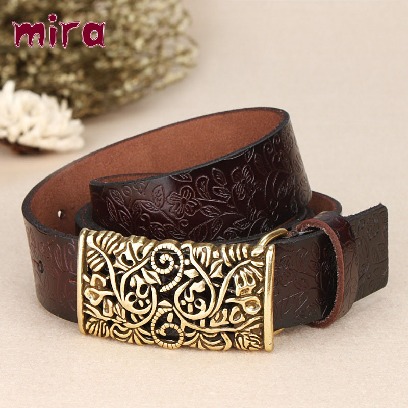 2016 New Arrival Sale Marcas Women Genuine Leather Belts High Quality Cowskin Brand Designer 8 Colors Pin Buckle Cinturon Cintos(China (Mainland))