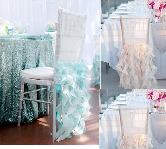 Gorgeous Chiffon Ruffles Chair Sash whith Green Wedding Decorations Anniversary Party Banquet Accessory(China (Mainland))