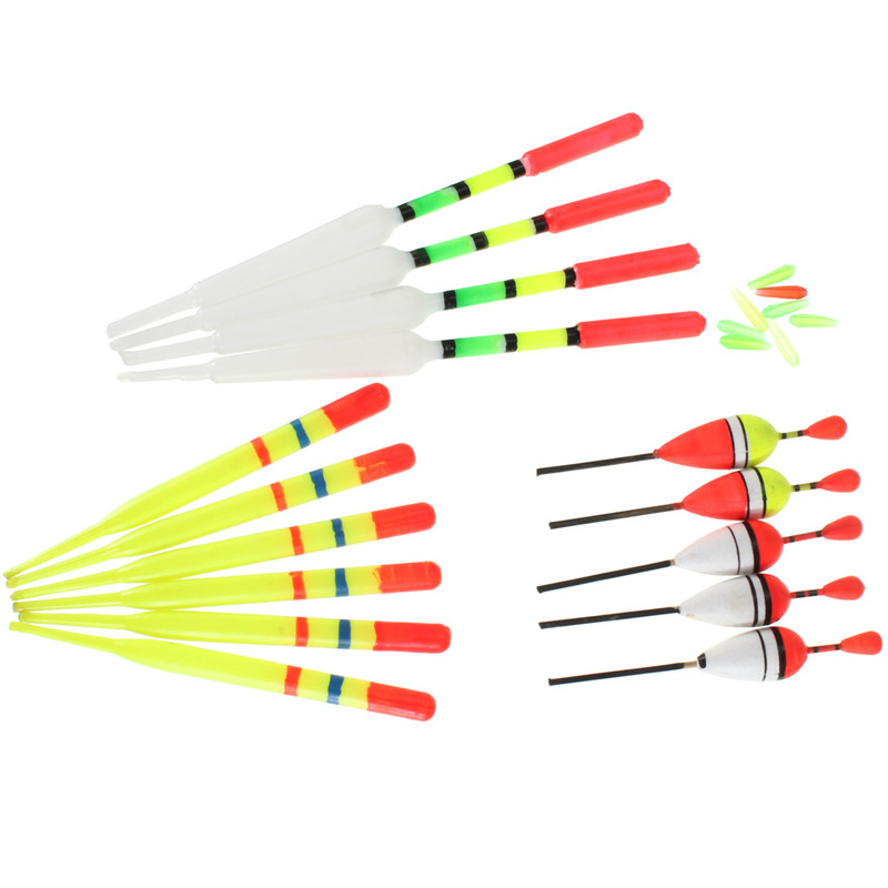 High Quality Hot Sale 15pcs Set Assorted Sizes Lot Fishing Lure Floats Bobbers Slip Drift Tube