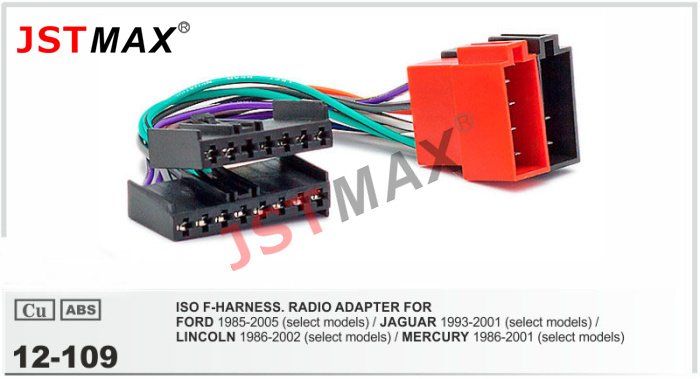 JSTMAX ISO cable car Radio stereo Adapter Radio Plug for FORD 1985-2005 Wiring Harness Adapter Connector Adaptor(China (Mainland))