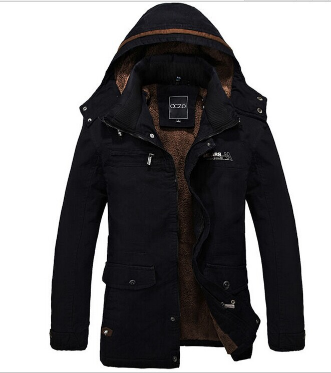 2015 winter men coats leisure wind cold and velvet with thick jacket In the men's long trench coat men's clothing wholesale(China (Mainland))