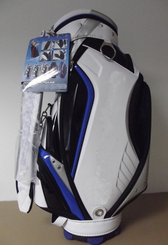 Free Shipping Golf Caddie Bag Cart Golf Bag in Blue | White With Embroidery(China (Mainland))