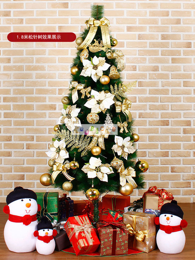 Free shipping christmas tree decoration package pvc for 180 degrees christmas decoration