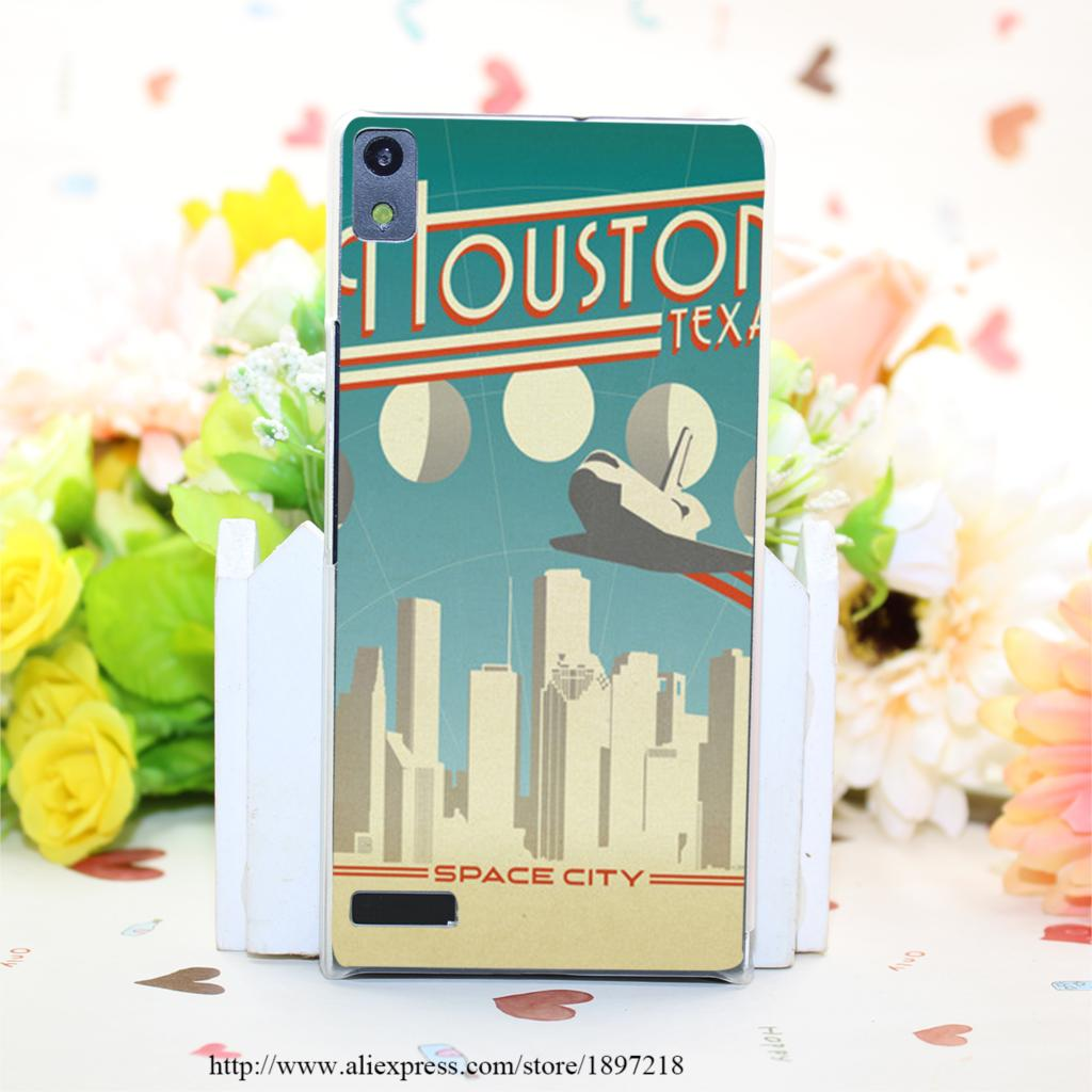1537PQ Houston Hard Transparent Painted Cover for Huawei Ascend P6 P7 P8 P8 Lite Case Protective(China (Mainland))