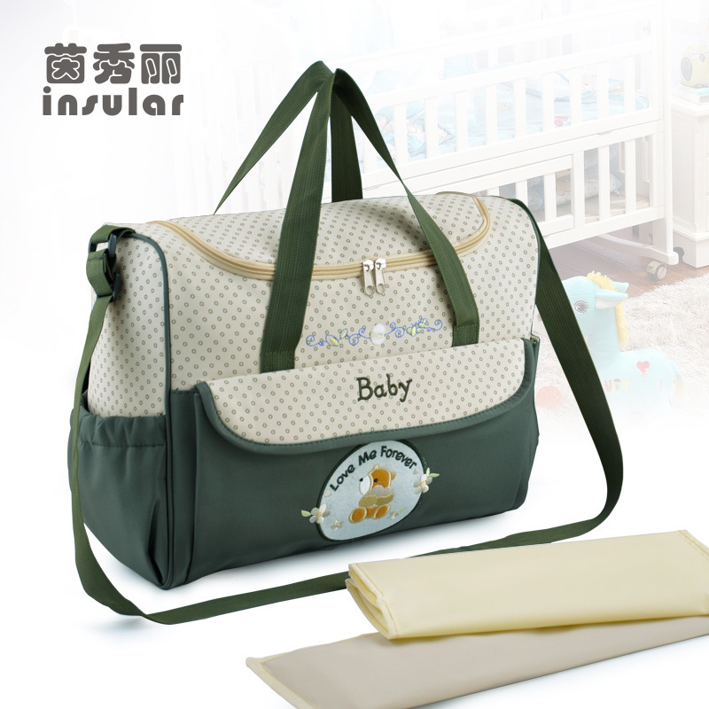 buy new design 3 colors baby diaper bags for mom brand baby travel nappy. Black Bedroom Furniture Sets. Home Design Ideas