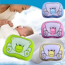 1PCS Soft Baby Infant Bedding Bear Print Oval Shape 100% Cotton Baby Shaping Pillow High Quality YS9642(China (Mainland))