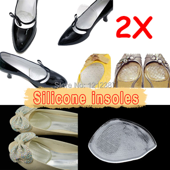 Silicone Gel Elastic Cushion Insoles Protect Comfy Feet Palm Care Shoe Pad Pads HB88