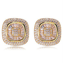 Latest Tread 204 Piece CZ Micro Pave Fashion Jewelry 18k Gold Plated Cubic Zirconia Allergy Free Women Stud Earrings Love Gift(China (Mainland))
