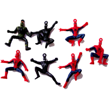 6pcs/set The Avengers Spider Man PVC Figure Toy Spiderman Figure Doll Gifts For Kids 6cm