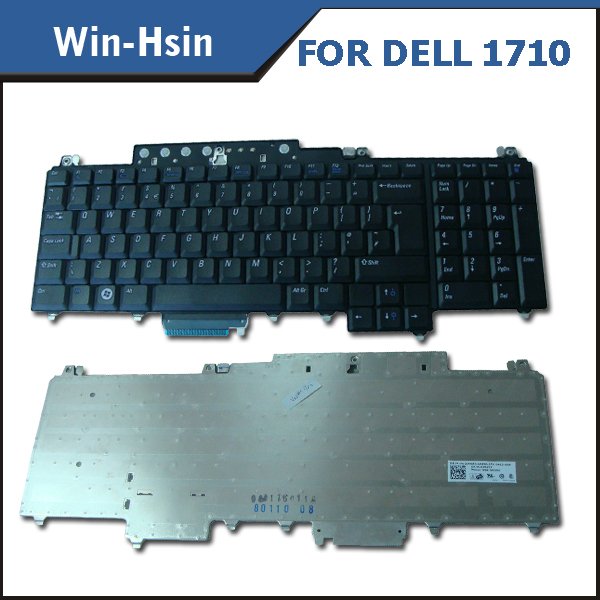 Free shipping Replacement laptop keyboard for Dell Vostro 1700 1710 1720 Black(China (Mainland))